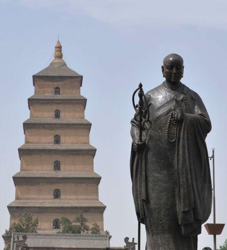 大雁塔下的陕西表情 笑脸欢迎四方游客