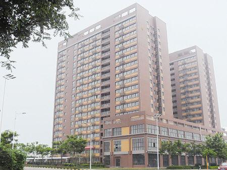 西安市首个公租房项目――蓝博公寓位于西三环南延伸线