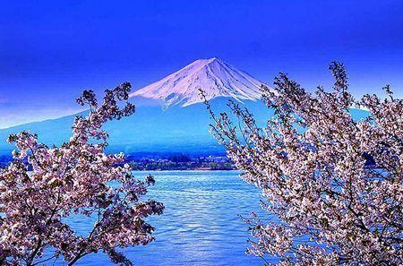 奇景观 日本富士山