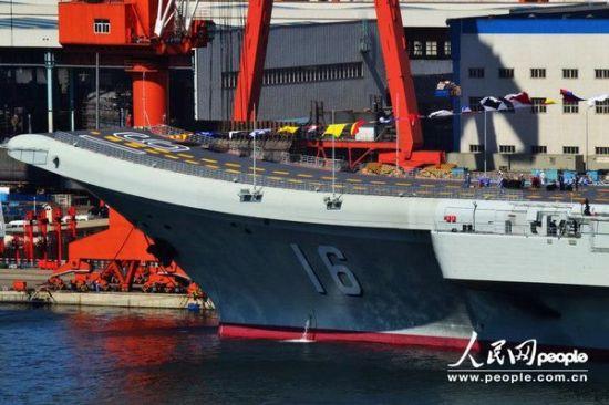 资料图:中国航母平台