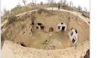 陕西富平县淡村镇:最后的地坑窑院 (组图)图片