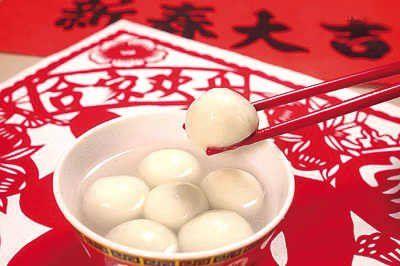 6个元宵=1碗米饭   简单地说,汤圆和元宵是一种以糯米和糖为主的食