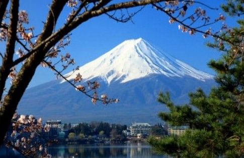 日本富士山风景区