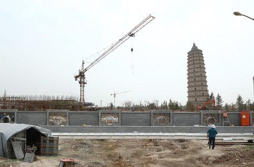 崇文塔公园项目施工现场