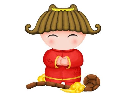 春节娃娃图片简单可爱