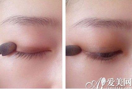 单眼皮化妆步骤 粉色下眼影增加甜美感