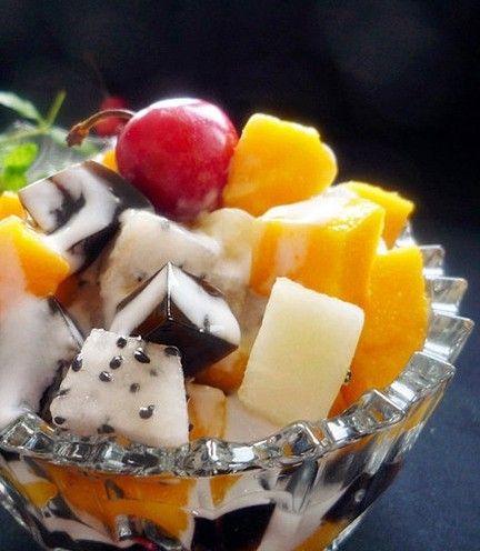 美食diy:美味甜品 酸奶水果沙拉