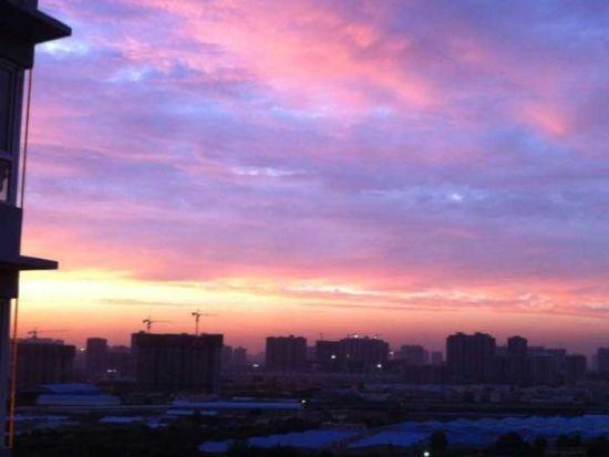 西安傍晚最美天空