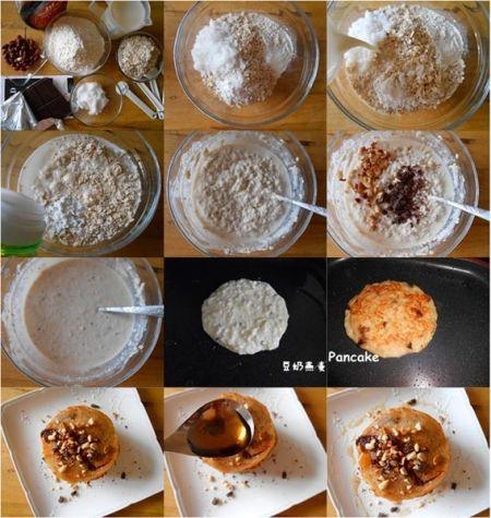 豆奶燕麦pancake配花生碎枫糖浆制作方法