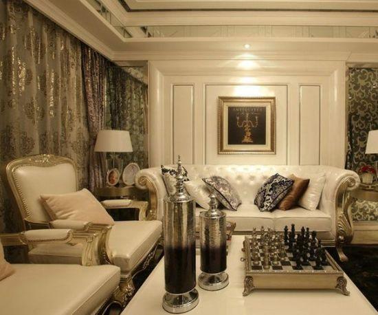 110平米两室两厅欧美风格装修效果图