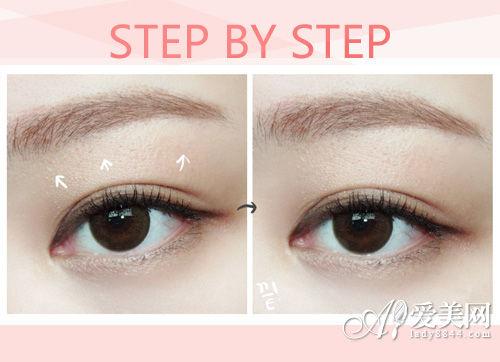 日常淡妆眼影画法
