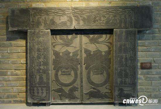 绥德汉画像石展览馆展出的文物