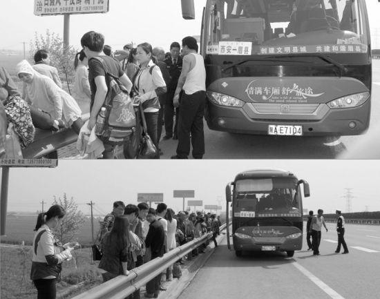 乘客冲上高速路