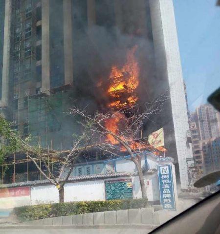 西安北郊工棚着火引燃建筑工地 未造成人员伤亡