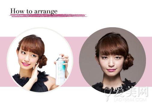 扎发步骤:   step1:将头发分成上图中的九部分