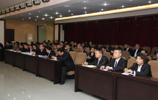 西安海棠职业学院召开全体干部会议学习省教育工作会议精神