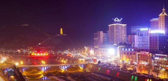 延安市宝塔区夜景