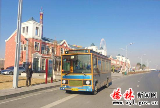 榆林新能源公交车上线 12,17路按新线路运营