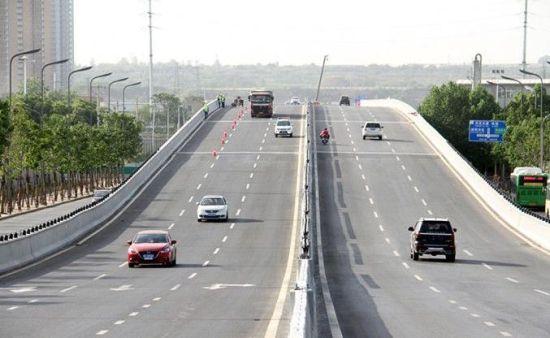 路_上林北路高架桥 桥梁上跨部分已建成通车