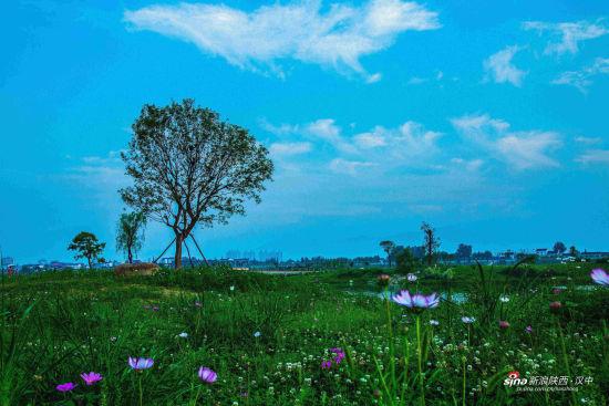 雨后的汉中一江两岸美景