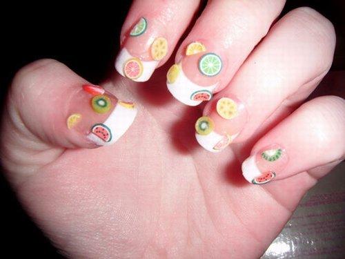 夏日指甲也爱水果口味