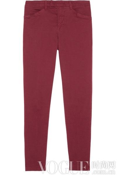 brand酒红色九分裤,价格:3