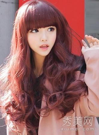 最流行的染发颜色 冬季最新染发发型图片