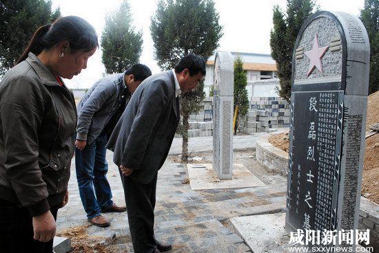 清明前夕咸阳市乾县居民烈士陵园祭英雄烈士
