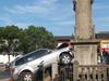 秋瑾纪念碑被撞