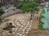 城墙绿地建停车场