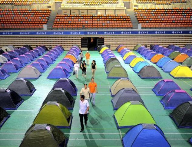 天津大学帐篷村