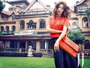 毛林林时尚街拍化身阳光少女