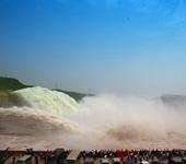小浪底现壮观泥沙瀑布