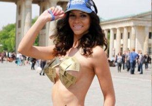 艳星米开拉遮三点宣传欧洲歌唱大奖赛