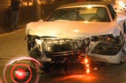 林志颖千万跑车被毁 友人驾车酿车祸