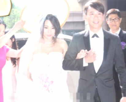 陶喆超跑车队迎娶女友 新娘白纱清纯