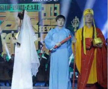 王祖蓝扮白娘子秒杀葫芦娃造型