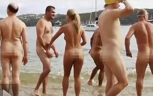 澳洲裸泳赛男女全部脱光玩