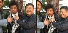 湖南接访官员笑摆V字手势与访民合影