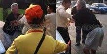 北京街头老外与的哥互殴引众怒