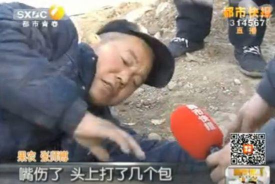 西安数名执法人员打砸草莓大棚 殴打果农