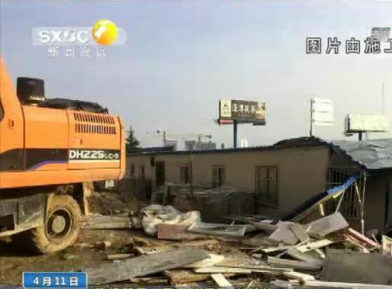 建筑工地遭打砸 打砸人员着装统一身份不明